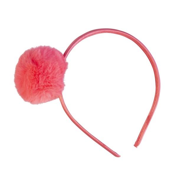 Haarreif Pompom pink