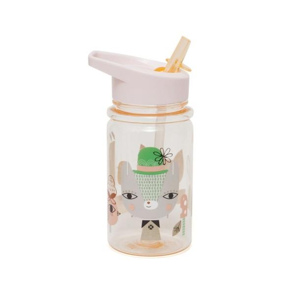Trinkflasche Lama & friends - pfirsich