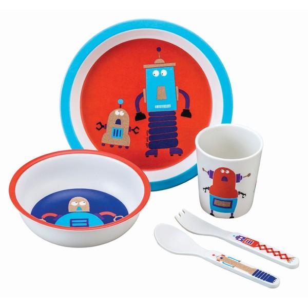 5-teiliges Service in Geschenkbox Roboter