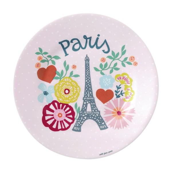 """Melamin - Dessertteller pink """"Eiffelturm"""""""