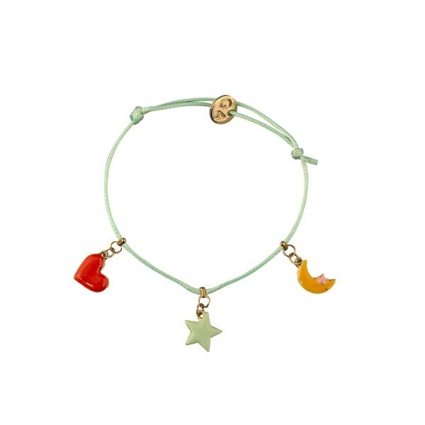 GLOBAL AFFAIRS Armband Herz, Stern & Mond