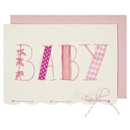 Postkarte Baby, rosa
