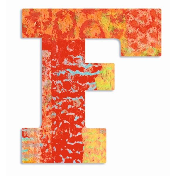 Buchstabe Serie Pfau - F