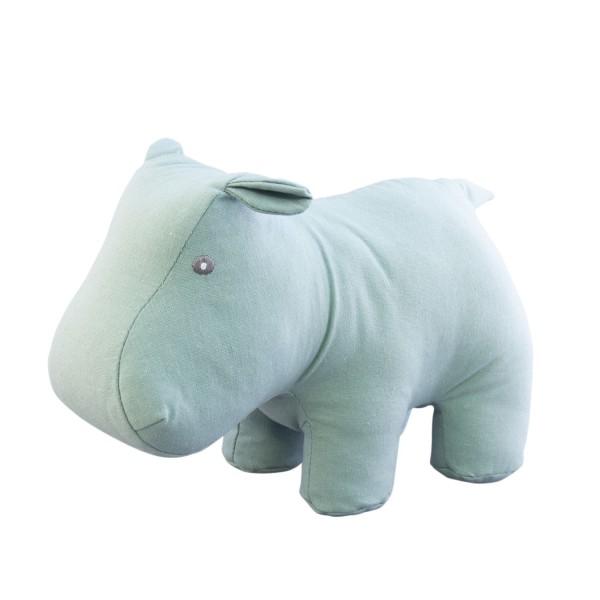 Kuscheltier Nilpferd grün-blau