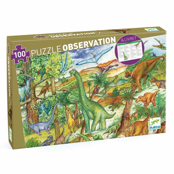 DJECO Puzzle: Dinosaurier - 100 Teile