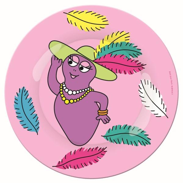 Melamin - Dessertteller rosa Barbapapa