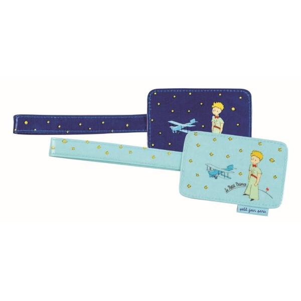 Kofferanhänger sortiert (3 hellblau / 3 dunkelblau)
