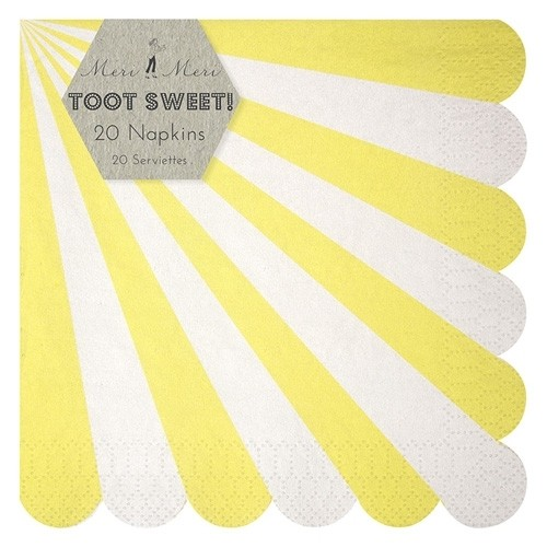 Toot Sweet yellow Papierservietten, groß
