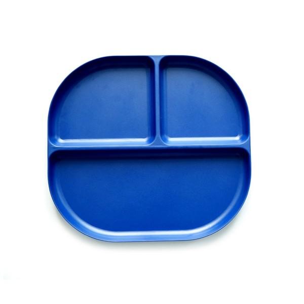 Biobu Bambino Unterteilter Teller, royal blue