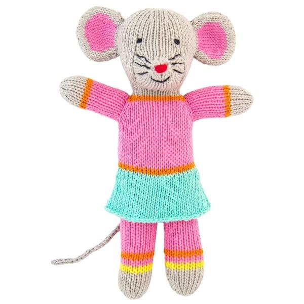 Stricktier Mini Maus rosa