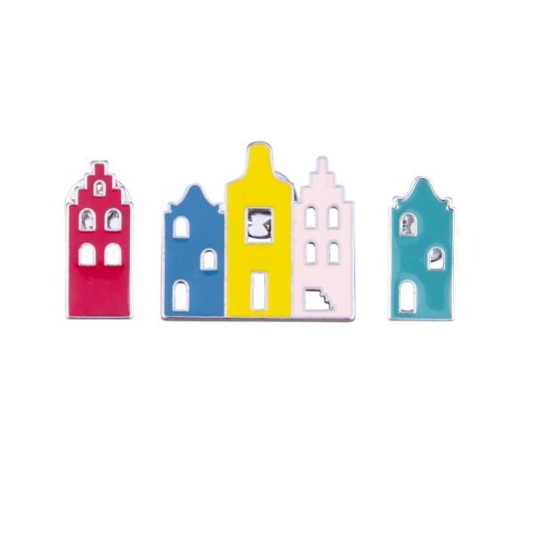 Pins Häuser (3/Karte)