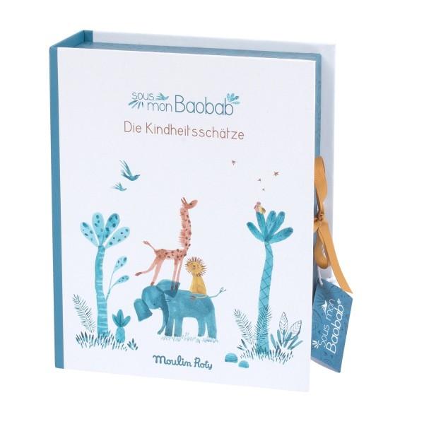 Geburts Geschenke Box Sous mon baobab