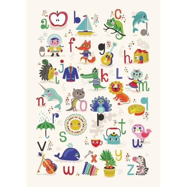 Poster ABC - Apfel - Zebra