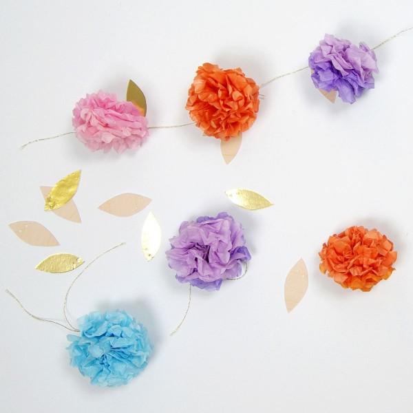 MeriMeri Flower Fancy Pompom Girlande