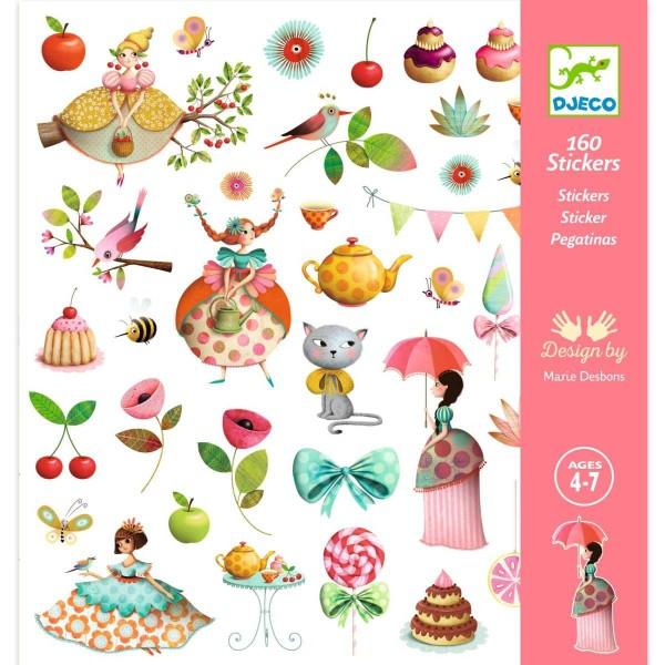 DJECO Sticker: Prinzessin Teestunde
