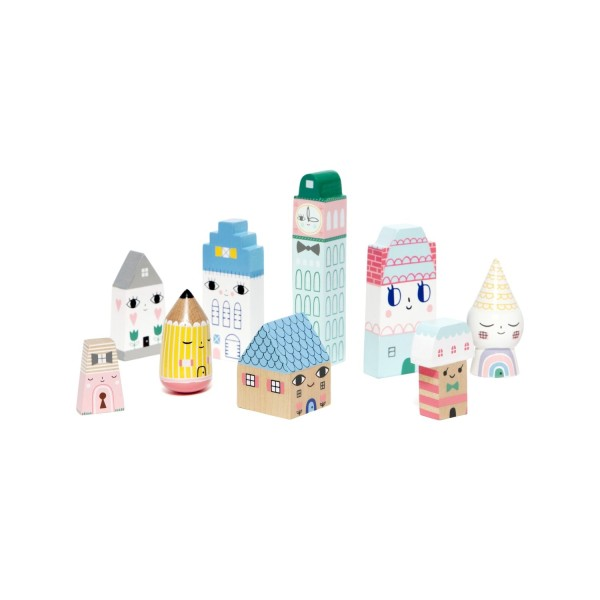 Holzfiguren Suzy city