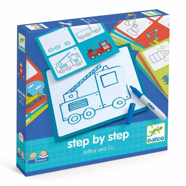 """Lernspiel: """" step by step"""" Arthur"""
