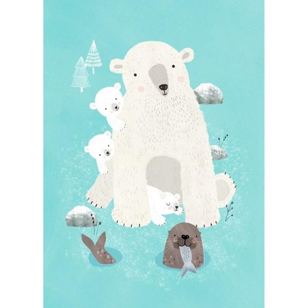 Postkarte Eisbär