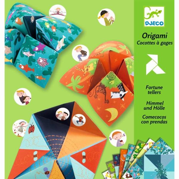 Origami Himmel und Hölle Tiere