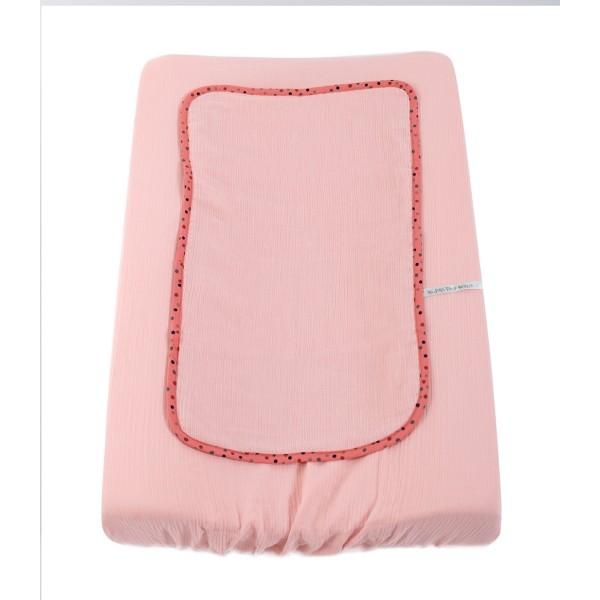 Überzug für Wickelunterlage rosa