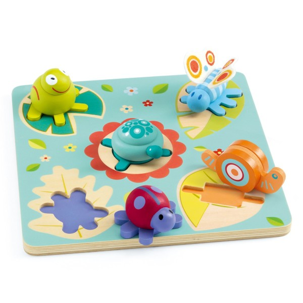 3D Holzpuzzle - Turtle & friends