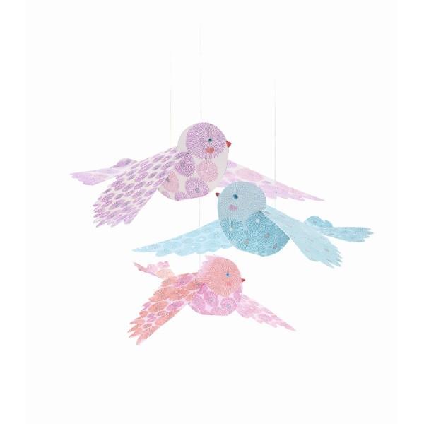 Mobile Glitzer Vögel