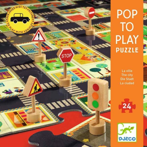 DJECO Puzzle Die Stadt - 24 Teile