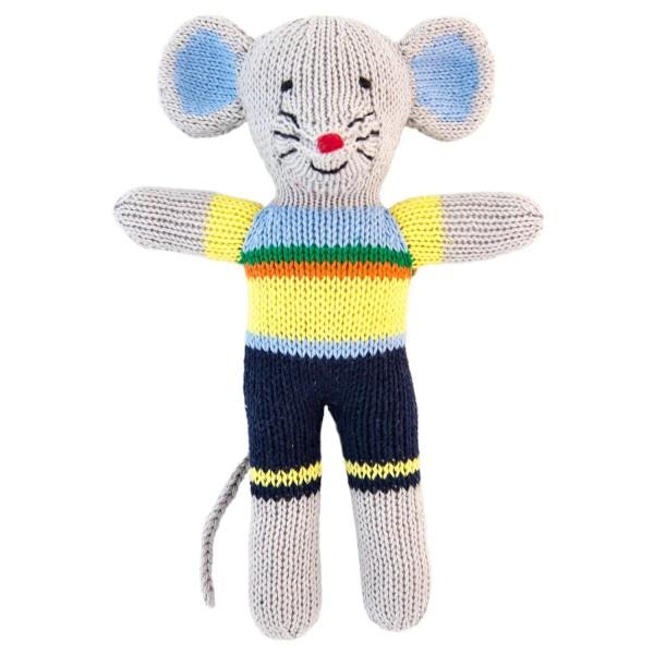 Stricktier Mini Maus blau