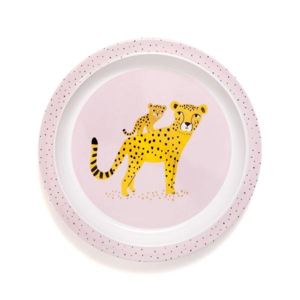 """Melamin Teller """"Leopard"""" rosa"""