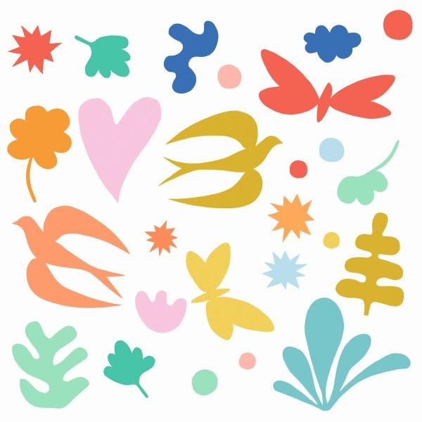 Fenstersticker: Fantasie (36 Sticker)
