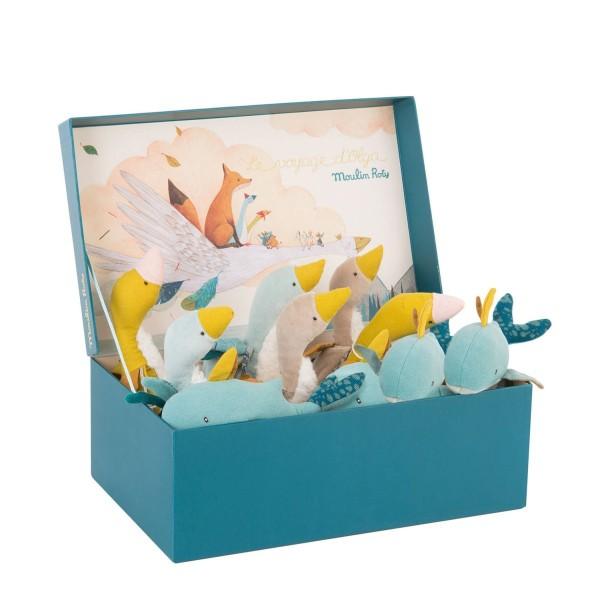 Displaybox mit 10 Puppen, sortiert
