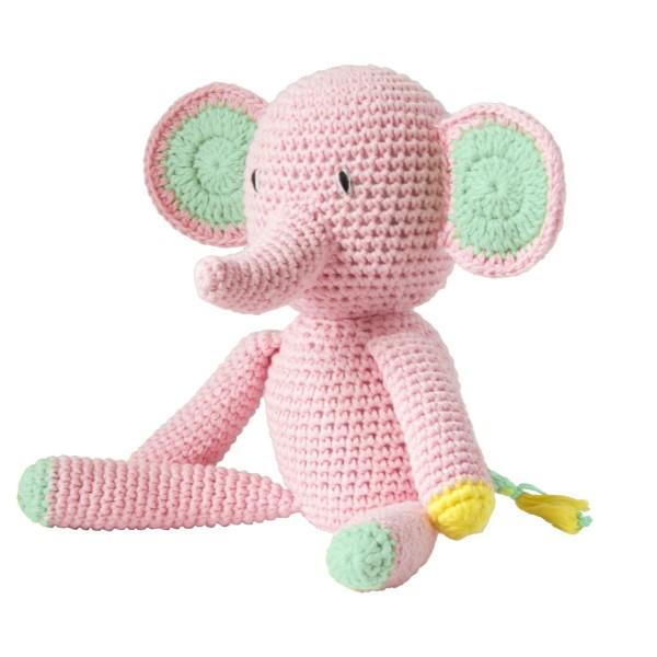 Häkeltier Elefant Rosa