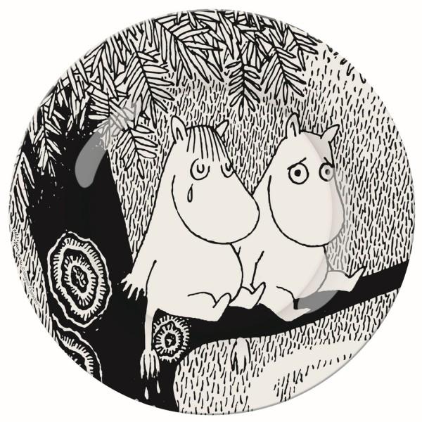 """Melamin - Dessertteller Moomin """"Life is hard"""""""