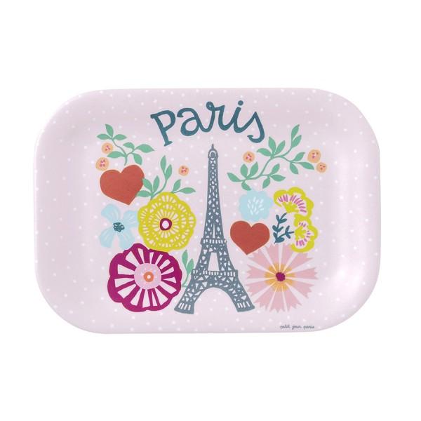 """Kleines Tablett pink """"Eiffelturm"""""""