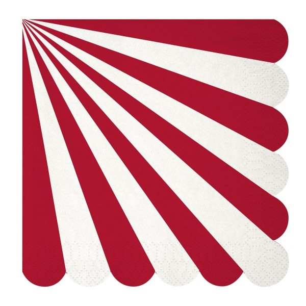 Toot Sweet red stripe Papierservietten, groß
