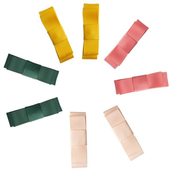 Haarclips Schleife, sortiert, 4 Farben