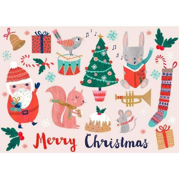 Postkarte Merry Christmas Santa