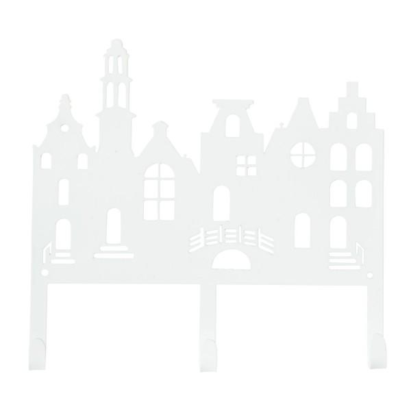 Garderobe Häuserreihe weiß