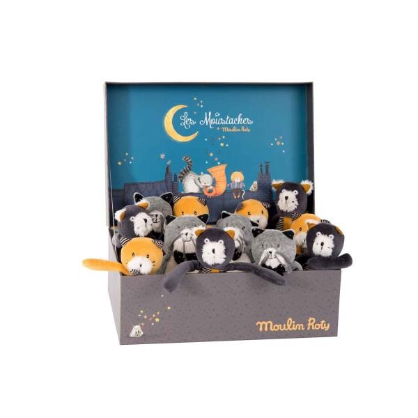 Displaybox mit 12 Puppen sortiert
