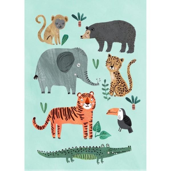 """Postkarte """"Wild Animals"""""""