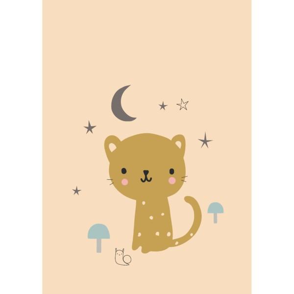 """Poster """"Leopard"""" pfirsich"""