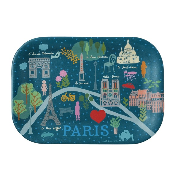 Kleines Tablett blau Paris