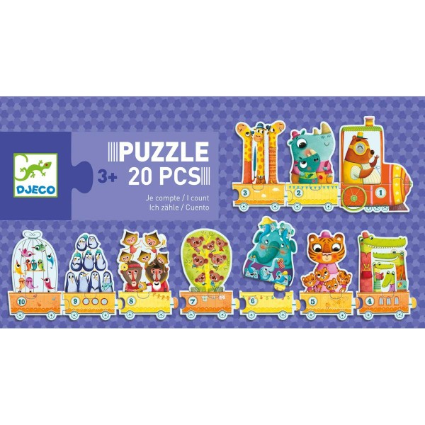 DJECO Puzzle Duo: Ich zähle 3+