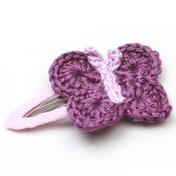 Haarspange mit Schmetterling - Lila/Helllila