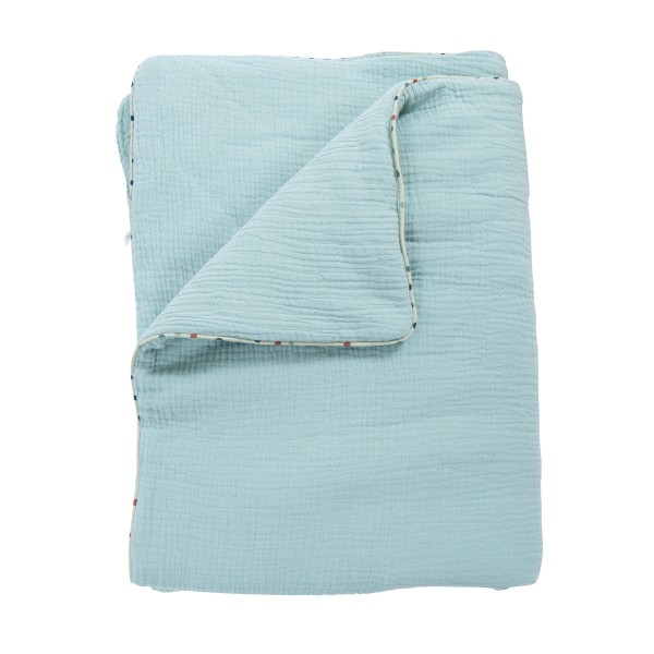 Bettüberwurf blau