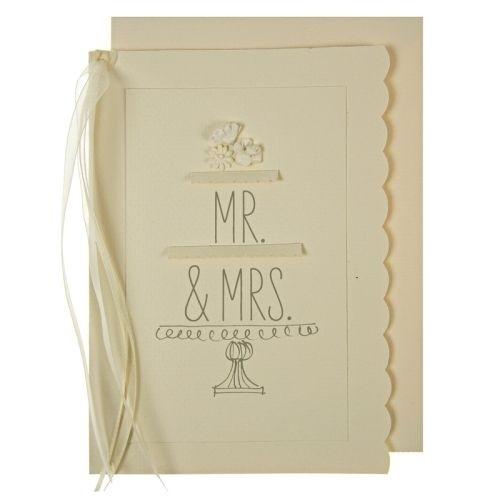 Postkarte Hochzeitstorte