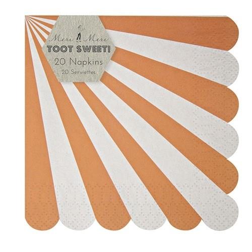 Toot Sweet Servietten orange, klein
