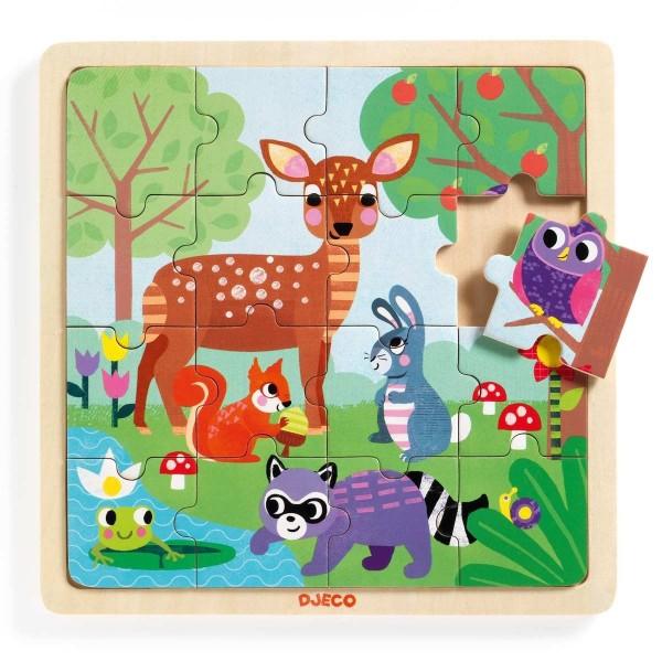Holz Puzzle: Puzzle Wald