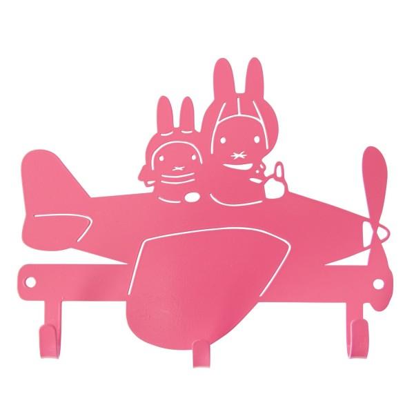 Miffy Garderobe Flugzeug pink
