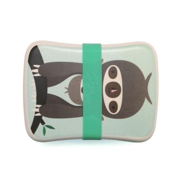 Bambus Lunchbox Faultier Grun Rund Um Den Tisch Petit Monkey